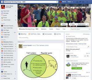 Milwaukee Running Group Private Facebook Page