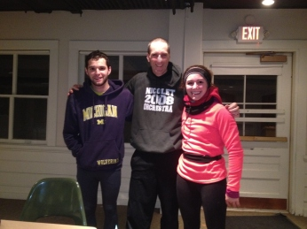 Clint me and Samantha on Monday Run in 1 Degree F - Andrei took pic