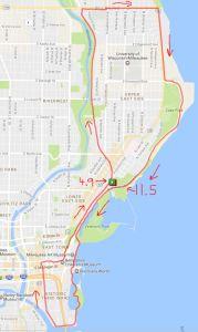 Milwaukee Running Group - Route 1 - Saturday Long Run