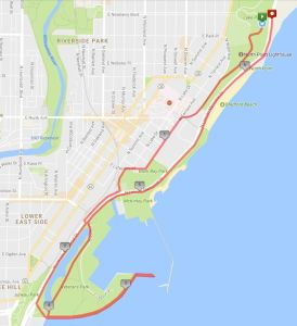 Milwaukee Running Group - Route 7 - Point